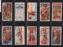 Tobacco cigarette cards English royalty Coronation stories set